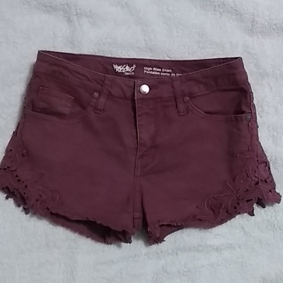 Mossimo denim Pants - Burgundy Cutt Off Denim Shorts